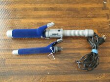 Conair Instant Heat Blue Velvet Flocked  CURLING IRON Large and Small attachment