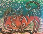 Xoloitzcuintli Blowing Bubbles Dog Collectible 8 x 10 Signed Pop Folk Art Print
