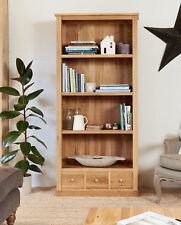 Baumhaus Mobel Oak 3 Drawer Bookcase - Mobel Oak Collection - Solid Oak