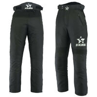 Men's Motorbike Waterproof CE Armours Trouser Motorcycle Bottom Long Pants Black