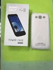 Power Bank Portable External Battery Charger Case Samsung Galaxy S3 i9300 White.