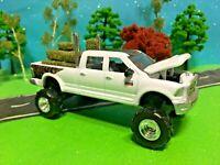 1/64 Farm Toy, Dodge Ram 2500, Heavy Duty, G-5 Custom Lift Kit, Dual Pipes, Hay