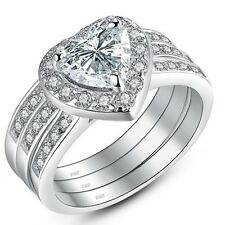 women engagement zirconia s stainless band cubic wedding clear b ring jewelry steel bn round womens bands ebay sets