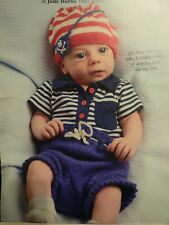Baby Pirate Sailor Hat and Shorts Knitting Pattern