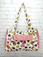 Vintage Disney Winnie the Pooh Piglet Quilted Diaper Duffel Travel Bag w/ Strap