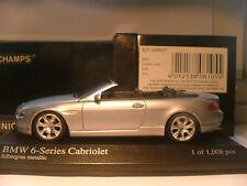RARE Minichamps 1/43 06 BMW Série 6 Cabriolet (E64) seulement 1008 PC dans le monde entier NLA
