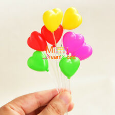 Toy A bunch of Heart balloons Dollhouse Miniature for 1/6 doll Barbie Blythe BJD