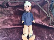 Antique French Signed Paris Composition Boy Doll Glass Eyes
