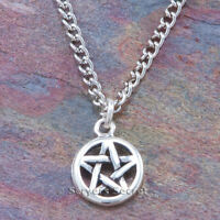 925 sterling silver PENTACLE PENTAGRAM Charm Pendant & Necklace small size