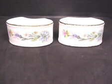 Aynsley Napkin Rings Wild Tudor Fine bone China set of 2 Made in England