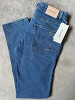 "LACOSTE MEN'S MEDIUM BLUE SLIM FIT JEANS HH7510 - 33"" W x 34"" L - NEW & TAGS"