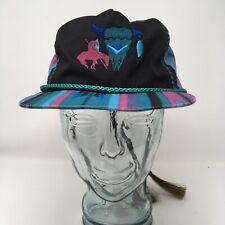 Southwest Steer Skull Horse Native American Baseball Hat Drawstring Horse Hair