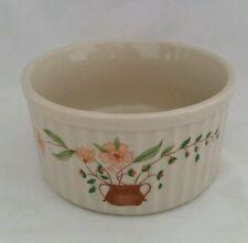 1980 Country Side Stoneware Collection Ribbed Ramekin/Souffle Dish, Japan