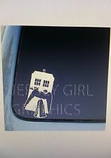 Angel carrying a phonebox phonebooth english vinyl decal sticker doctor