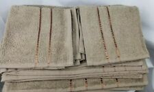 Somerset 8 Piece Cotton Plush Towel Set Brown with Chocolate Ribbon Embelishment