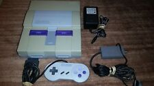 SUPER NINTENDO SNES CONSOLE SYSTEM W OFFICIAL CNTRLLER GUARANTEED GOOD CND YLLW
