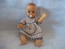 """VINTAGE 1960'S RUBBER BABY DOLL A BLOCK DOLL PRODUCT 9"""""""