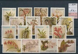 LN20190 Guyana 1985 flowers nature fine lot MNH cv 22 EUR