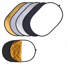 "5-in-1 Oval Multi Disc Photography Reflector Light 23""x35"" / 60x90cm"