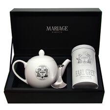 Mariage Freres - DÉGUSTATEUR™ teapot & tea caddy spoon set Earl Grey French Blue