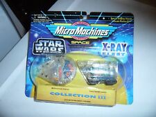 MICRO MACHINES STAR WARS X-RAY FLEET MILLENNIUM FALCON & JAVA SANDCRAWLER
