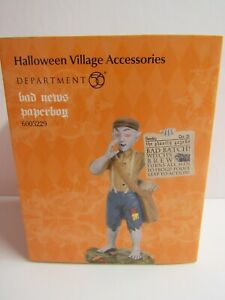 Dept 56 Halloween Village Bad News Paperboy 6003229