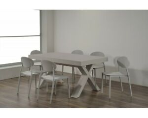 Table With 5 Or 6 Extending, Finished Beton