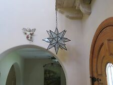 """Moravian Star -18"""" frosted glass  26 point with canopy, chain, wiring"""