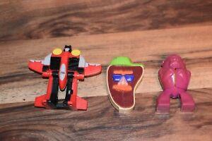 VINTAGE 90s+00s MCDONALDS RESTAURANT + 1996 ARBY GORILLA (3 transforming toys)