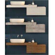 Mensola porta lavabo in legno arredo mobile bagno 60 90 120 cm 3 colori |1wp