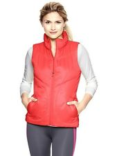 GAP GapFit Primaloft Neon Orange Puffer Vest XL NWT Womans (MSRP $69.95)