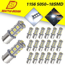 20x White 1156 18-SMD RV Camper Trailer LED Interior Light Bulbs 1073 1141