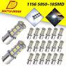 20x White 1156 18-SMD RV Camper Trailer LED Interior Light Bulbs 1073 1141