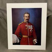 1900 Antico Militare Ritratto Stampa Richard Harrison British Esercito Ufficiale