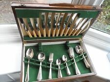 48pc Art Deco Canteen Of Silver Plated Cutlery In Box Lewis Rose & Co Sheffield