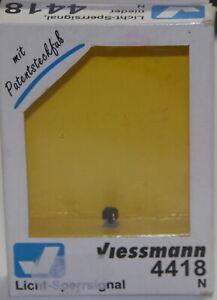 Viessmann Spur N 4418 Gleissperrsignal LEDs Bodensignal Patentsteckfuss OVP