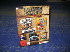 Empire Earth Ultimate Edition 1, 2 + 3 inkl. Add-Ons PC NEUw. in BOX Erstausgabe