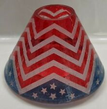 Yankee Candle~American Chevron~Large Shade~VERY HARD TO FIND~~RETIRED