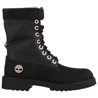"Timberland 6"" GS Premium Black/Pink Gaiter Boots Girls TB0A1UKD001"