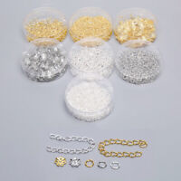 100-500pcs/set Jump Ring/Beads Caps/Extended Chains Findings DIY Jewelry Mak Nk