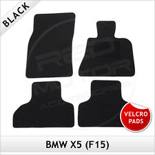BMW X5 F15 2013 onwards Velcro Pads Tailored Fitted Carpet Car Floor Mats BLACK