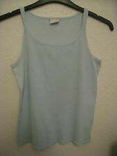 NEXT GIRLS 12 years Pale Blue Ribbed VEST TOP Good Condition