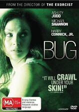Bug (DVD, 2008) | Region 4 | Ashley Judd, Michael Shannon, Harry Connick,JR