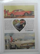 1966 Print Ad Ford Mustang ~ Hardtop, Fastback, Convertible Heart