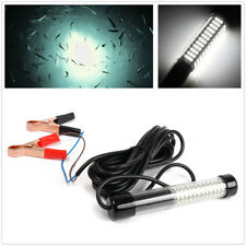 LED White Underwater Submersible Bait Night Fishing Light Crappie Shrimps Squid
