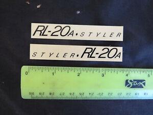 REAL NOS REDLINE DECALS STYLER RL-20A BMX STICKERS VINTAGE FRAME RL20A DECAL