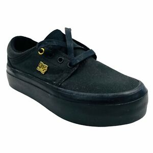 ⭐️ DC Thick Sole Casual Skater Shoes/trainers With Gold DC Logo (UK 3/EU 35.5)