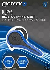 Gioteck LP-1 Auriculares Bluetooth Chat-Azul para Sony Playstation PS4 PS3 y PC Nuevo