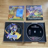 Spyro The Dragon - PS1 PlayStation 1 - PAL - Complete Black Label Inc Demo