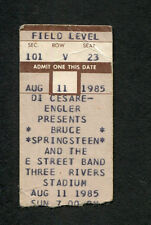 1985 Bruce Springsteen concert ticket stub Pittsburgh Born In The Usa